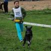 Lavinia mit Shanouk auf dem 7.Platz CaniCross Junior 2,8km
