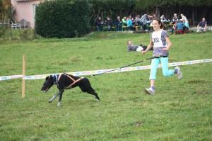 Selina mit Shanouk auf dem 2.Platz CaniCross Junior 2,8km